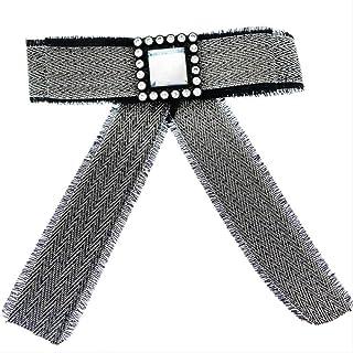 CBCJU Accesorios de Ropa de Moda Broche de Seda con Lazo de Cristal Cuadrado 11.5 * 12.5cm