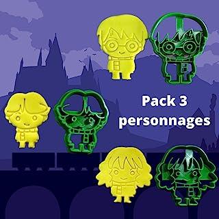 ELACE - Emporte-pièce Lot de 3 Harry Hermione Ron Potter POP - Patisserie, sablé, biscuit, pâte à sucre, pâte à modeler-Dé...