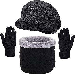 LYworld Winterm/ütze Damen Schal Set M/ütze Schal Set f/ür Herren mit Fleecefutter M/ütze und Schal Handschuhe Barett Maler M/ütze Unisex Warm Gestrickt