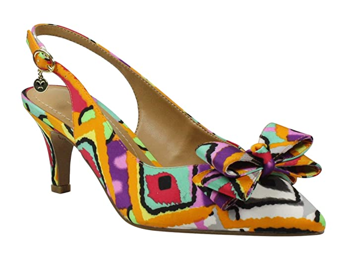 70s Shoes, Platforms, Boots, Heels J. Renee Gosalyne RedOrange Retro Womens Shoes $88.95 AT vintagedancer.com