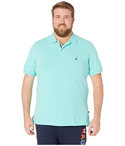 Nautica Big & Tall Big Tall Short Sleeve Solid Deck Shirt (Poolsdaqua) Men