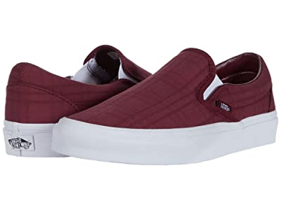 Vans Classic Slip-Ontm ((Tonal Plaid) Port Royale/True White) Skate Shoes