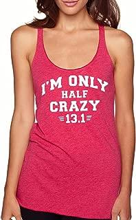 Women's I'm Only Half Crazy 13.1 Tank Top Motivation Runner