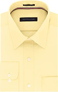 Tommy Hilfiger Men's Regular Fit Non Iron Solid