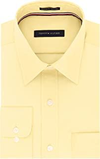 Tommy Hilfiger Men's Regular Fit Non Iron Point Collar Solid