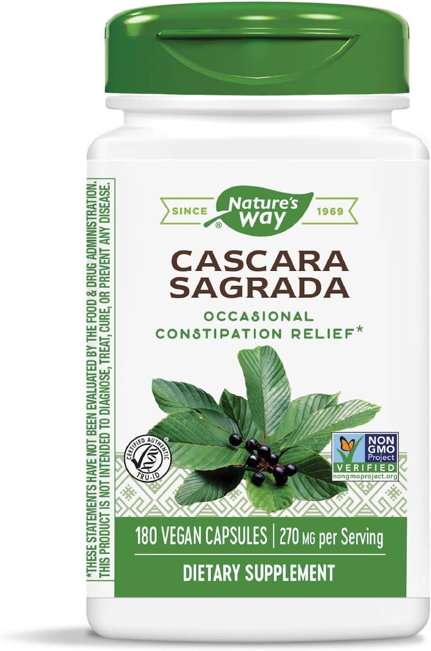 Nature's Way Cascara Sacramento Mall Sagrada Bark 270 per Choice mg Veget serving 180
