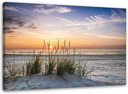 Feeby Schilderij Op Canvas 1 Delig 100x70 Wanddecoratie Op Canvas Muurdecoratie Fotokunst Strand Zee Natuur Landschap Water Zand Zonsondergang Meerkleurig Amazon Nl Wonen Keuken