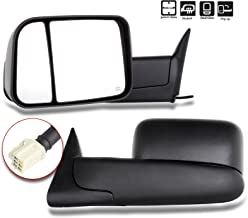SCITOO Towing Mirrors fit Dodge Ram High Perfitmance Exterior Accessories Mirrors fit 1998-2002 Ram 1500 Ram 2500 Ram 3500 with Power Controlling Heated Manual Flipping up and Telescoping Features