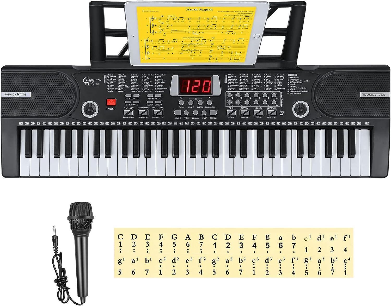 Hricane Kids Piano Over item handling Keyboard 61 Keys Beginner Keyboar Electronic Limited time sale
