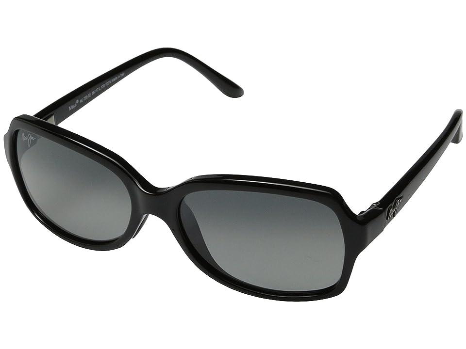 Maui Jim Cloud Break (Gloss Black/Neutral Grey) Fashion Sunglasses