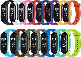 comprar comparacion Monuary 15 Piezas Correa para Xiaomi Mi Smart Band 4 / Mi Band 3 Pulsera, Silicona Reloj de Recambio Brazalete Coloridos C...