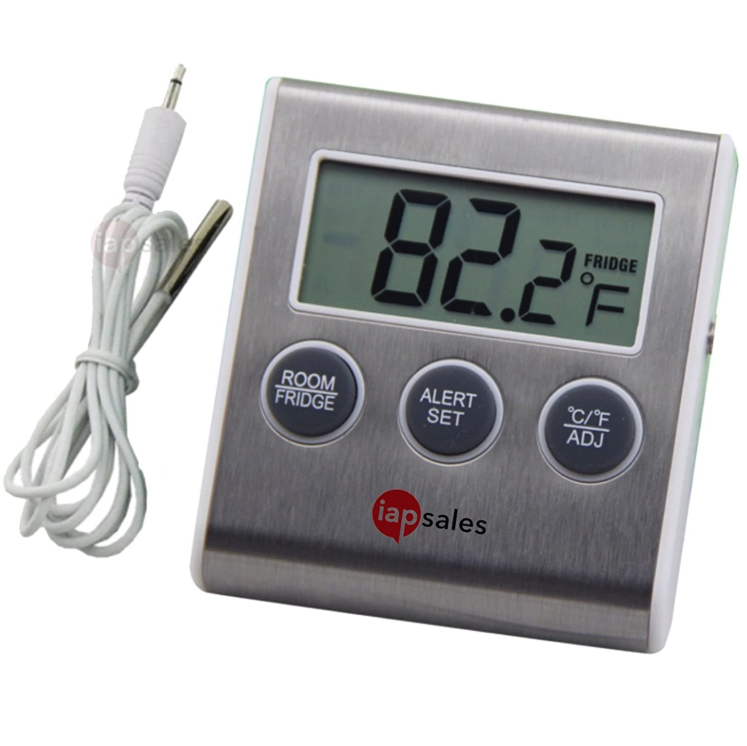Easy to Read: Refrigerator Freezer Thermometer Alarm, High & Low Temperature Alarms Settings