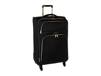 Kenneth Cole Reaction Chelsea 24 Quilted Expandable 4-Wheel Upright Pullman (Black) Luggage