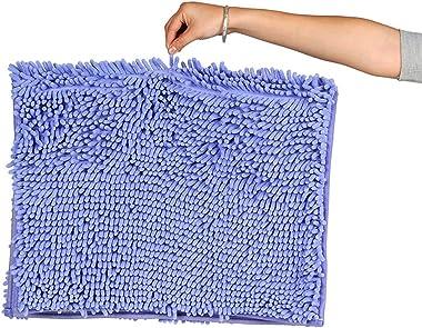 Tapis de bain antidérapant doux tapis de douche absorbant en microfibre tissu chenille Shaggy Tapis de salon cuisine chambre