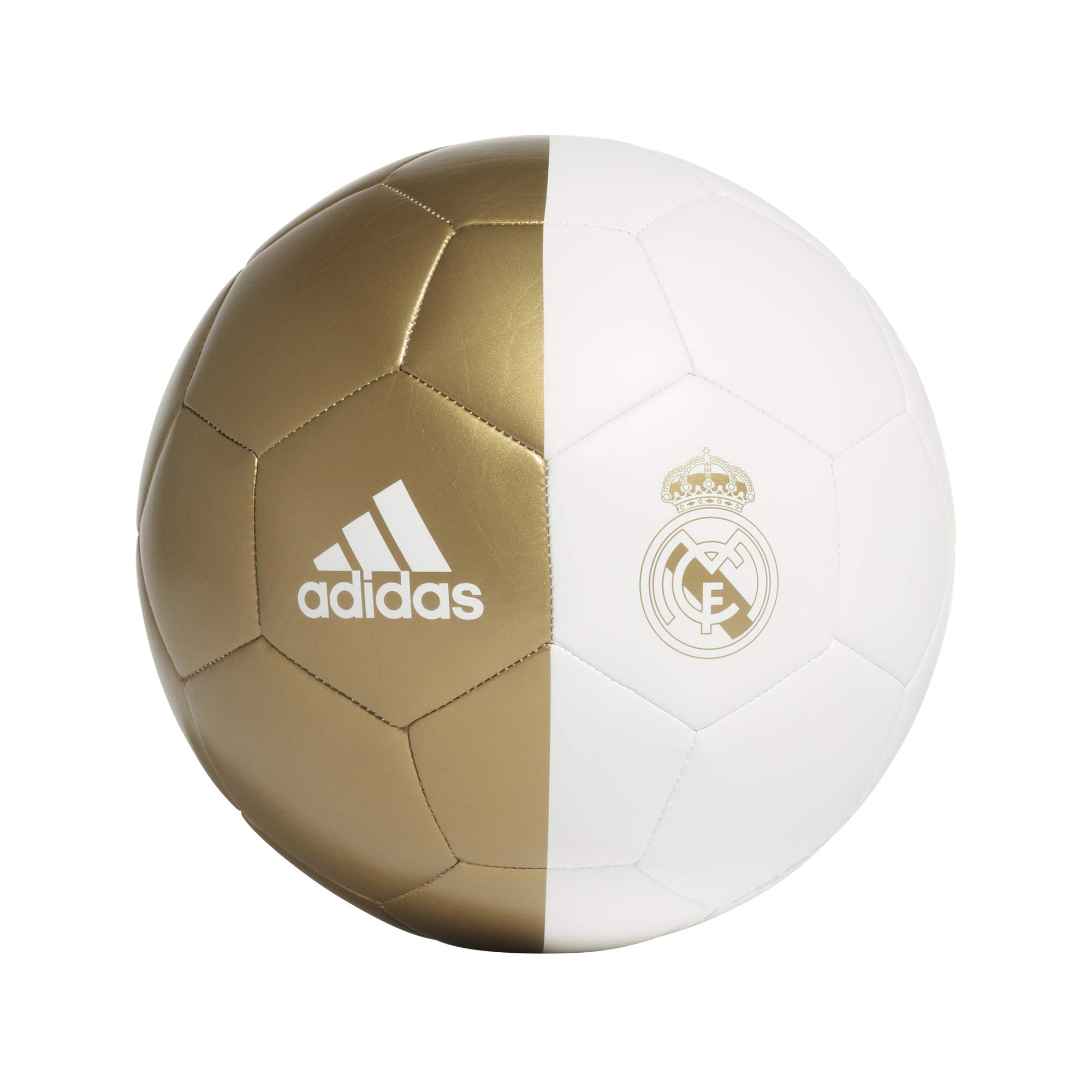 adidas RM CPT Balón de Fútbol, Mens, White/Dark Football Gold, 5 ...