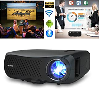 """Movie Projector 1080P Native Full HD Wireless Bluetooth Projector 5500 Lumen Support 4K 5G WiFi HDMI Max 200"""" LCD Multimed..."""