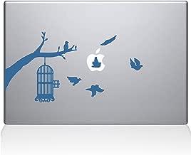 "The Decal Guru Birdcage tree Apple Ad Decal Vinyl Sticker, 15"" MacBook Pro (2015 & Older Models), Light Blue (2309-MAC-15P-LB)"