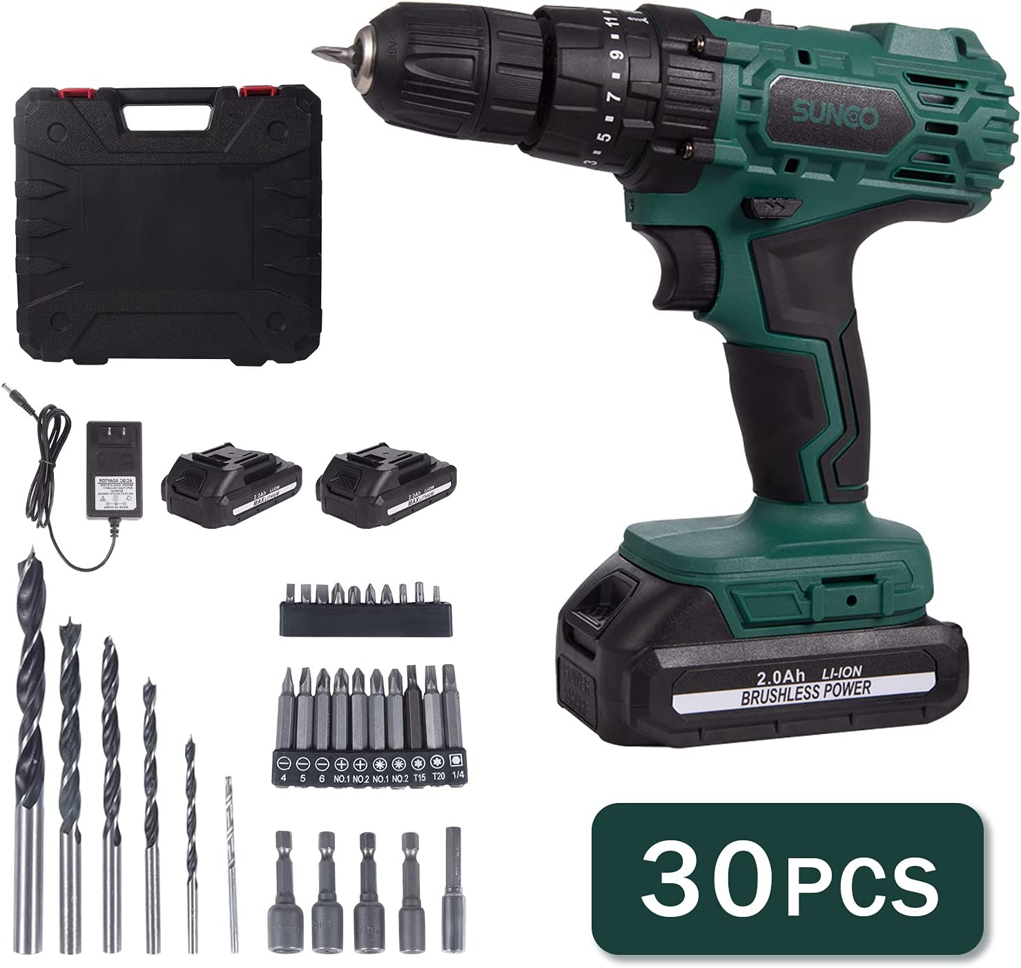 Cordless Drill Set Max 52% OFF with Carrying Case 21V Drive Max 72% OFF Brushless