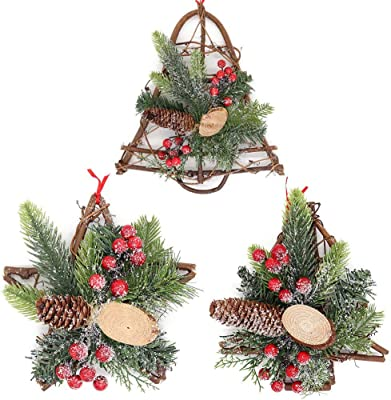 Natural Christmas Wreath Garland Xmas Party Home Gifts Presents Tree Decorations