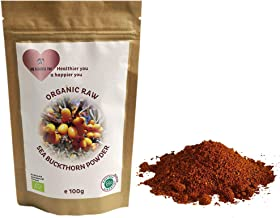 Organic Raw Sea Buckthorn Dried Berry Fruit Powder - Natural Vitamin C Supplement to Improve Immune System ...