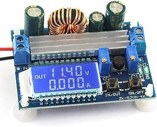 DZS Elec DC-DC Buck Boost Converter Module 5.5-30V 12v to 0.5-30V 5v 24v Adjustable Step Down Up Voltage Regulator Constant Current Voltage 3A 35W Power Supply with LCD Display