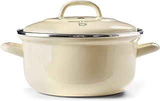 BK Cookware Dutch Oven 2.5QT, Cream