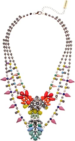 Multi-Layer Floral Bib Necklace