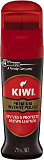 KIWI Liquid Polish, Instant Shine & Protect, Revives & Protects for Brown Shoes, 75 ml