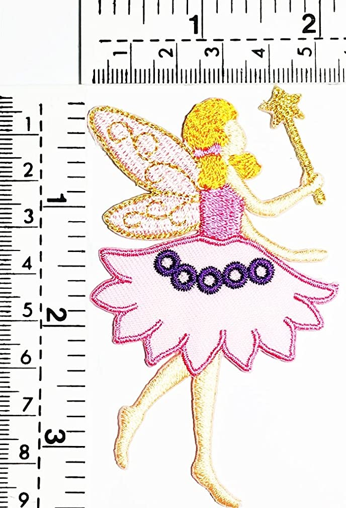 Fairy Angels hold scepter star fairy In fiction kids Children cartoon patch Applique for Clothes Great as happy birthday gift