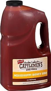Cattlemen`s Mississippi Honey BBQ Sauce, 1 gal - One Gallon Bulk Container of Mississippi Honey Barbecue Sauce Blend of Ho...