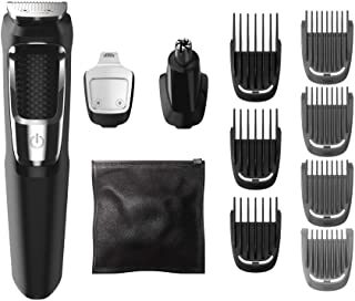 Philips Norelco Multigroom All-in-One Trimmer Series 3000 with 13 pieces - No Blade Oil Needed, MG3750/50