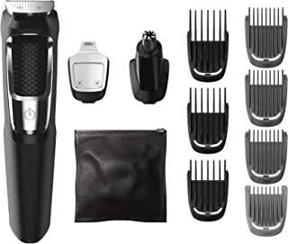 Philips Norelco Multigroom All-in-One Trimmer Series 3000 with 13 pieces – No Blade..