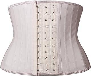 YIANNA Women's Classic Underbust Latex Sports Girdle Short Torso Waist Training Corsets for Weight Loss Hourglass Body Sha...