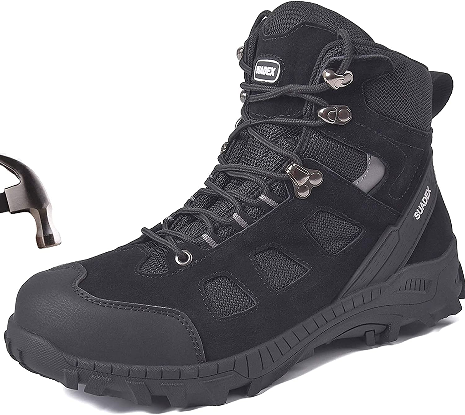 SUADEX Max New Free Shipping 87% OFF Steel Toe Boots for Men Women Indestructible Sh