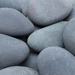 Margo 30 Lb. Large Mexican Beach Pebble 3 in. to 5 in. (Large - 3 Pack, Grey)