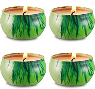 Aimanni Citronella Scented Candles Set 4 Natural Soy Wax Travel Tin 2.5oz, Outdoor and Indoor