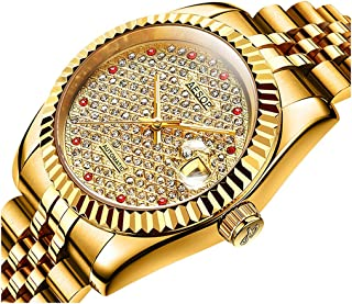 Luxury Dress Luminous Calendar Diamond Men Automatic Mechanical Stainless Steel Waterproof Boy Watch