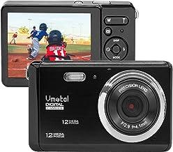 2.8 pulgadas LCD recargable HD mini cámara digital, cámara de vídeo Vmotal digital estudiantes cámaras 12 MP/HD cámara compacta deportes, viajes, vacaciones, regalo de cumpleaños para niños/principiantes/adolescentes/adultos mayores (negro)
