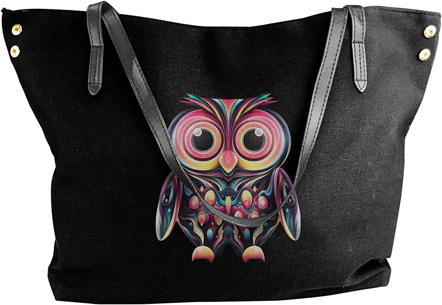 Women's Canvas Cute Owl Casual Hobo Canvas Daily Purse