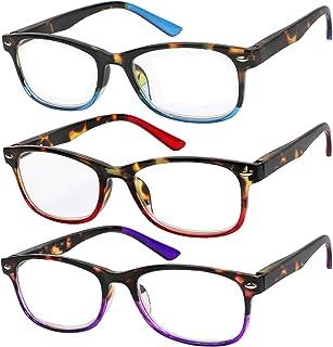Reading Glasses Set of 3 Great Value Spring Hinge Readers Men and Women Glasses for Reading