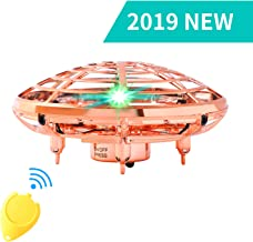 $32 » Flying Toys for Kids Mini UFO Drone Hand Operated Drones with 2 Speed, Flying Ball Drone Easy Indoor Outdoor Toys, Great Flying Drone Gift for Boys/Girls, USB Charging and Remote Controller