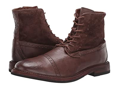 Frye Murray Lace-Up (Dark Brown Waxed Dip-Dye/Suede) Men