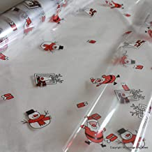 Father christmas santa / snowman cellophane wrap 10m x 80cm hampers or gift wrapping