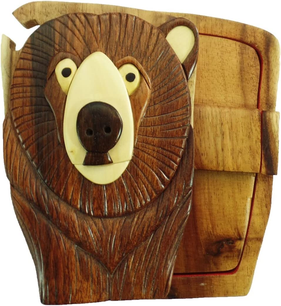 Bear Head Woods Hand-Carved Puzzle Al sold out. No Super popular specialty store with Paints Stains Box