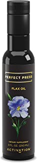 Activation Products, Perfect Press Flax Seed Oil – Great Tasting Cold Pressed Flaxseed Oil Supplement with Essential Omega 3 – 100% Vegan, Organic Flax Oil for Hair, Skin, Nails & Joints, 250ml