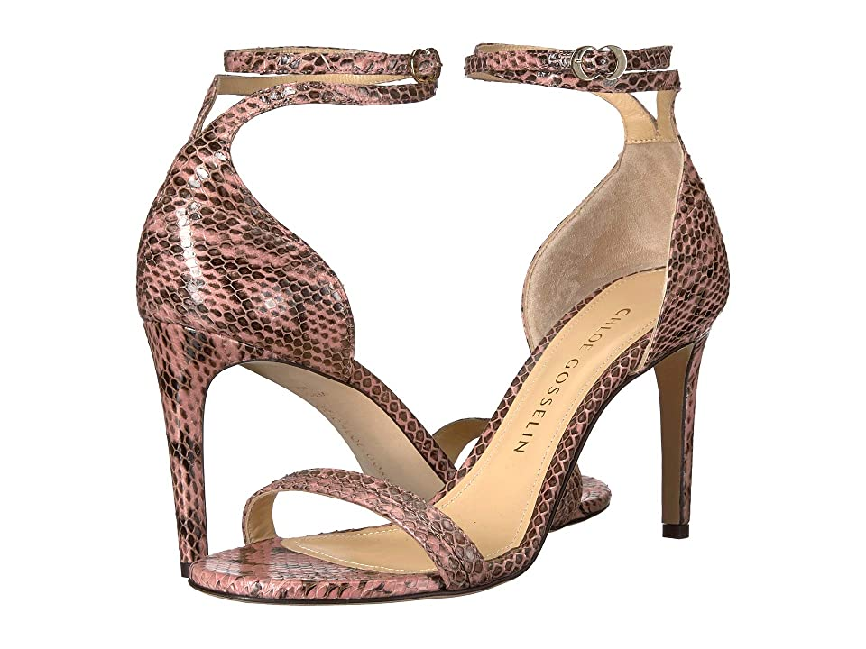 CHLOE GOSSELIN Narcissus Ankle Strap Open Toe Heel (Pink) Women