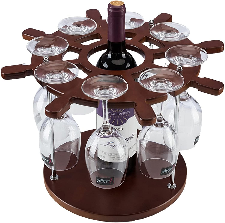 ASdf European Style Modern Wood Wine Rack Creative Home Living Room Kitchen Desktop Pendulum Pieces Multifunction Goblet Rack Wine Rack