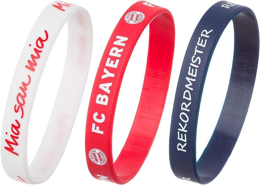 FC Bayern München Set di 3 bracciali sportivi in silicone
