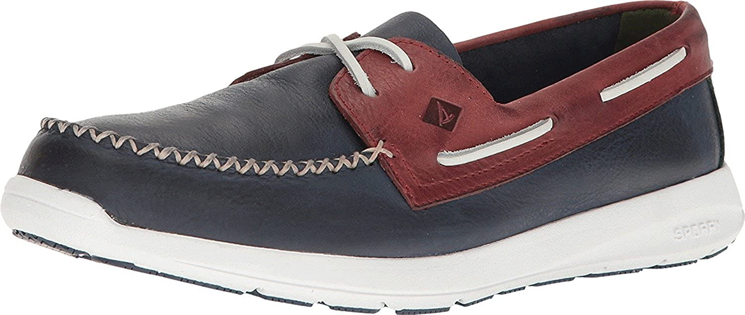 Sperry Top-Sider Mens Sojourn Leather 2-Eye Red Navy