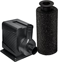 Beckett Corporation 800 GPH Submersible Pond and Waterfall Pump with Filter - Pump for Indoor/Outdoor Ponds, Fountains, Water Gardens, Aquariums, and Small Waterfalls, 8.2' Max Fountain Height, Black